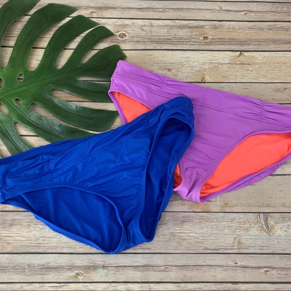 NEW ATHLETA Women/'s Swimsuit Shirred Band Bottom lots of color size S